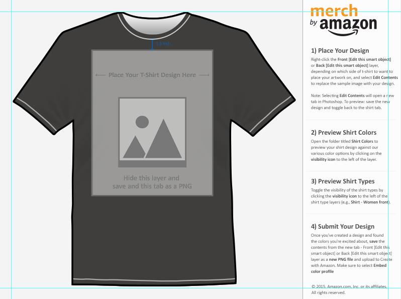 How To Use The Merch By Amazon Template TShirt Curator - Design a shirt template
