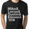 Stranger Things Mike Lucas Dustin Eleven Will T- Shirt