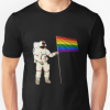 LGBT Astronaut Gay Rainbow Flag T-Shirt